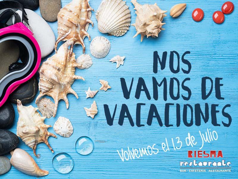 Restaurante Riesma Villena - Vacaciones 2017